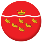 East Sussex County Flag 25mm Pin Button Badge